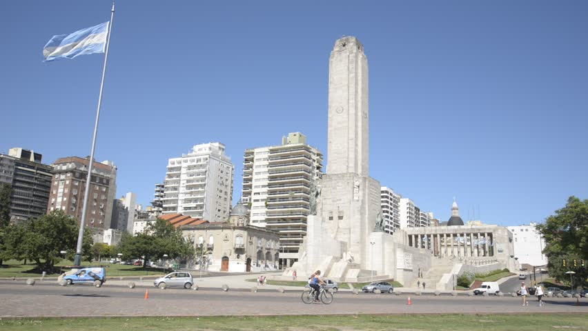 ROSARIO, ARGENTINA - JANUARY 3, 2015: National Flag Memorial of Argentina on January 3, 2015 in Rosario city, Argentina