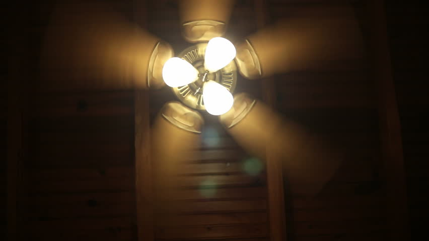 Ceiling fan with three lamps in a dark room bed perspective ceiling fan with three lamps in a dark room bed perspective stock footage video 8441587 shutterstock mozeypictures Image collections
