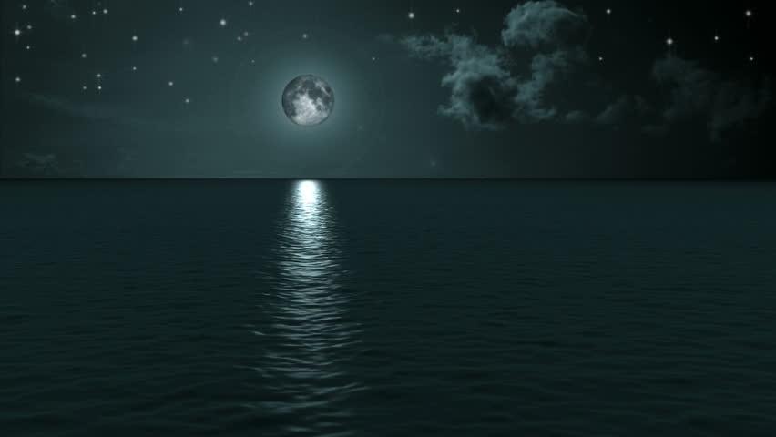 Blue Moon Ocean Calm