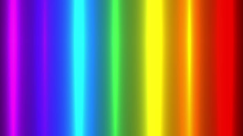 Rainbow Glowing Vertical Lines Grow Bigger and Smaller Animation, Loop | Shutterstock HD Video #8536897