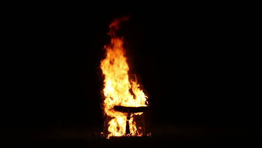 Chair On Fire Burning In The Night Closeup Stock Footage Video 8573377    Shutterstock