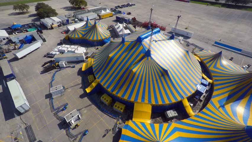 MIAMI - JANUARY 12 Aerial 4k Uhd Video Of The Cirque De Soleil Tents In Miami Florida January 12 2015 In Miami Florida USA Stock Footage Video 8573647 | ... & MIAMI - JANUARY 12: Aerial 4k Uhd Video Of The Cirque De Soleil ...