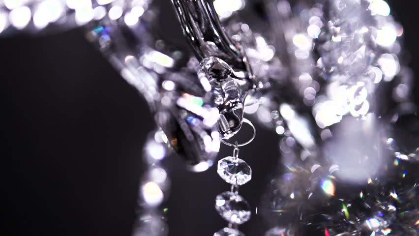 Crystal Chandelier Shot With Blurred Focus. Full HD 1080 Video ...
