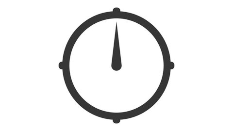 Animated clock with green time interval, on white background