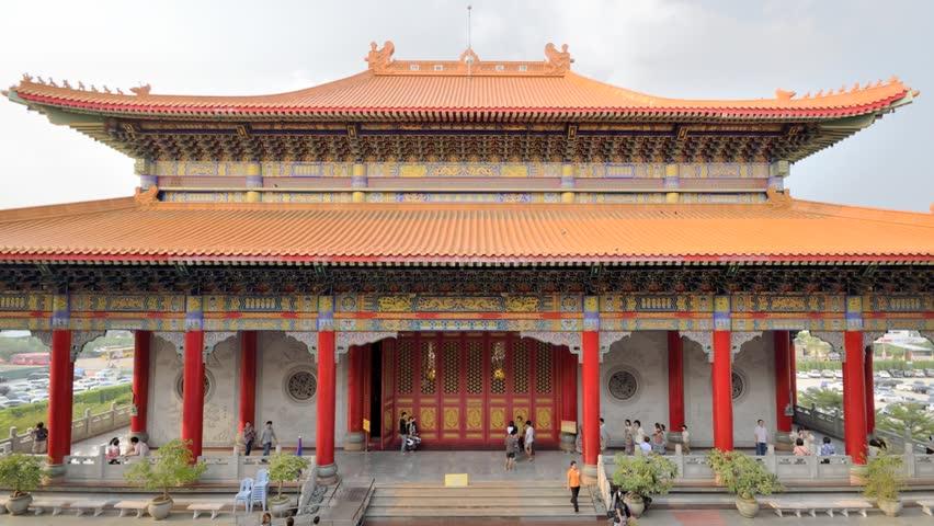 Chinese new year's lantern at Wat Leng Nei Yi 2 Bang Bua Thong, Thailand | Shutterstock HD Video #8649907
