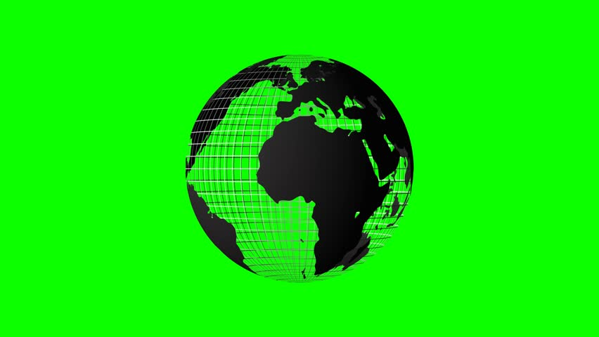 Rotating Earth Created Using Overlapping Burlap On A Green Screen - Us map redrawn background