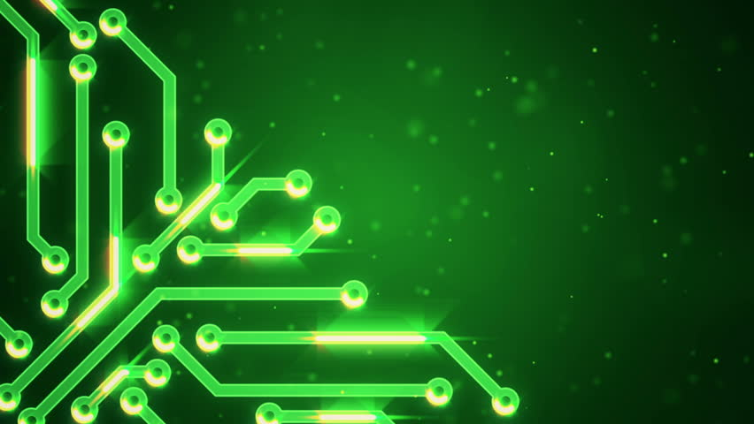 Green circuit board electronic hi-tech. Beautiful chip background. Abstract circuit. Different colors in my profile. | Shutterstock HD Video #8718007
