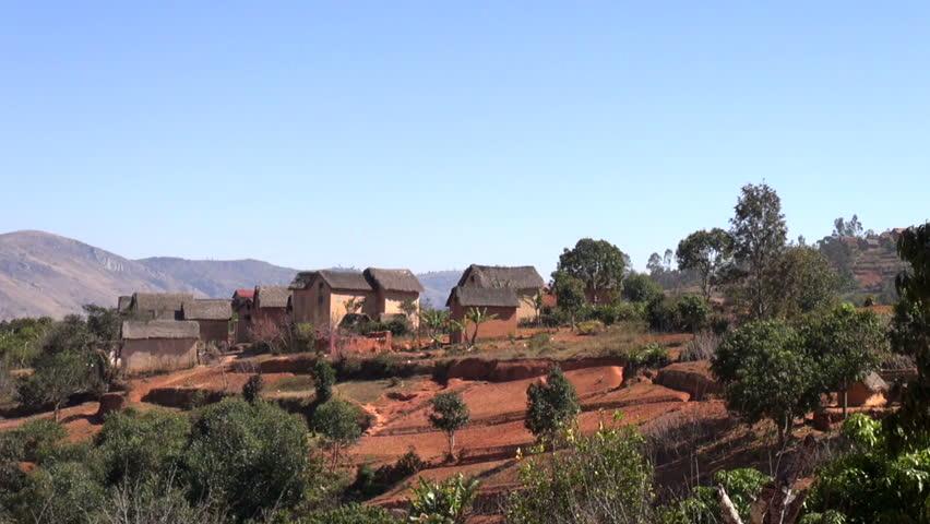 A little village at the outback of Madagascar Fianarantsoa,Madagascar July 2014