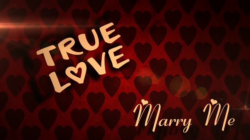 Stock Video Of Marry Me Romantic Love Animation This Loop Able