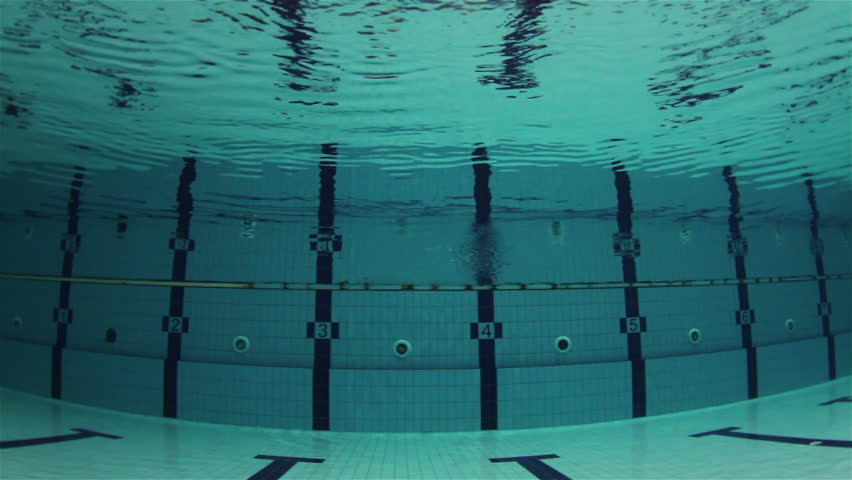 empty olympic swimming pool underwater horizontal swimming lines hd stock video clip - Olympic Swimming Pool Underwater