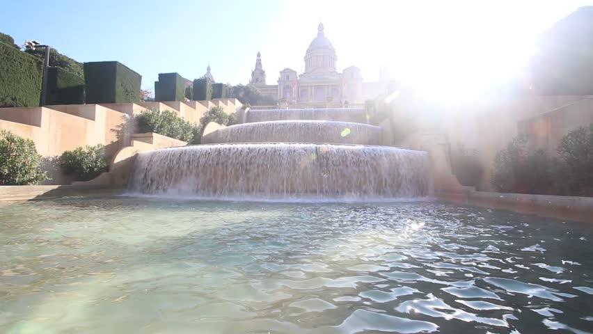 Barcelona Fountain | Shutterstock HD Video #8747890