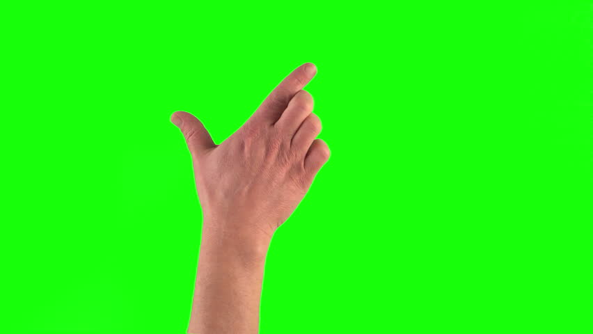 4k: 18 touchscreen gestures in 3840 × 2160. Set of hand gestures.Showing the uses of computer touchscreen tablet trackpad on green screen. modern technology #8751007