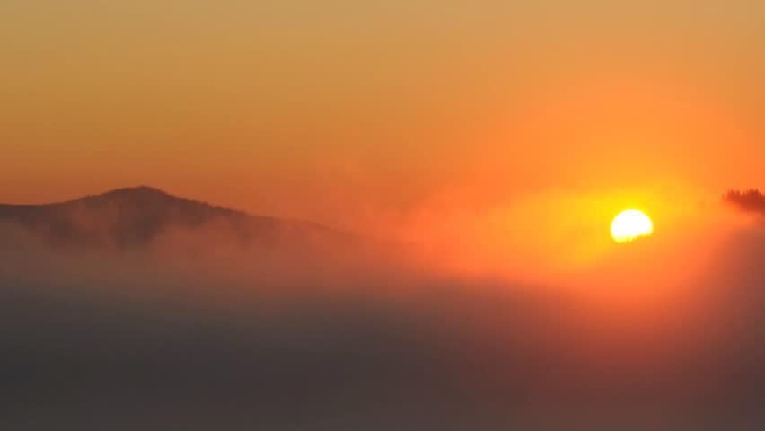 Timelaps sunrise in Carpathian mountains in the Ukraine #875542