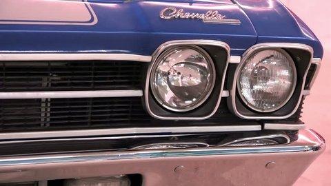 Saint-petersburg, russia-january 10, 2015 american exhibition of vintage  cars