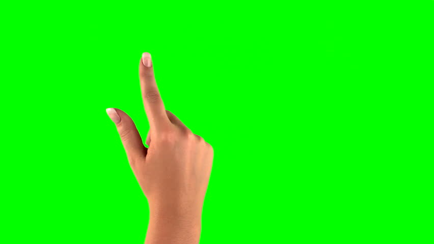 4k: female touchscreen gestures in 3840?×?2160. Set of hand gestures.