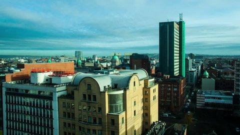 Belfast skyline day time lapse 4K