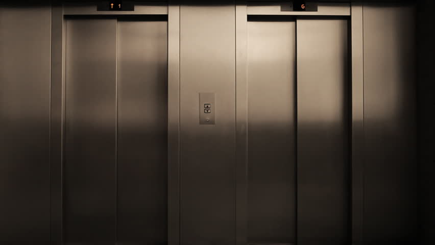 Modern aluminum case elevator door opens and closes shortly after / HD1280 / 30fps - HD & Doors Opening And Closing Looped Animation. Moving In The Hall ... Pezcame.Com