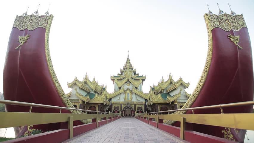 Karaweik entrance, Yangon | Shutterstock HD Video #8865997