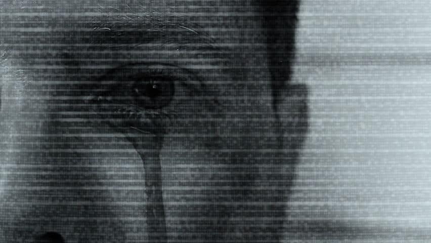 Static and Bleeding Eye Horror Clip | Shutterstock HD Video #8885335