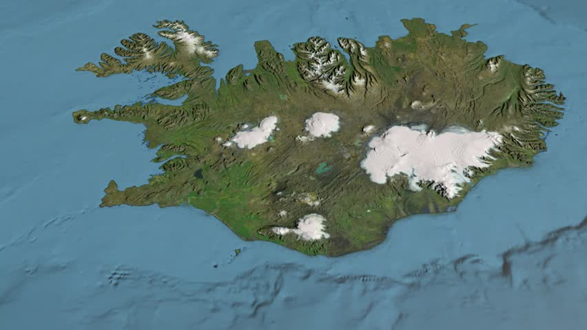 Iceland zoom animation stock footage video 23601820 shutterstock glide over the satellite map of iceland country area highlighted and outlined elements of gumiabroncs Gallery