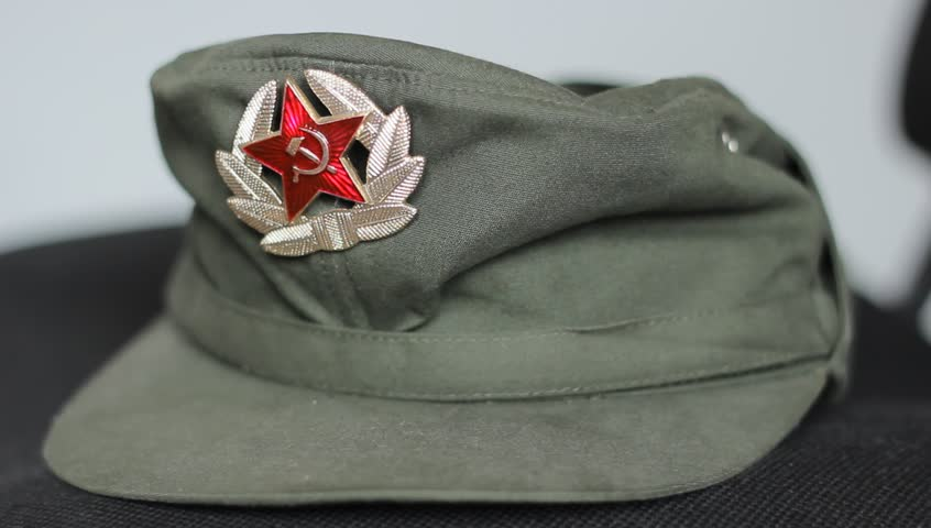 3019045ca Military Cap with Communist Decoration, Stock Footage Video (100%  Royalty-free) 8935987 | Shutterstock
