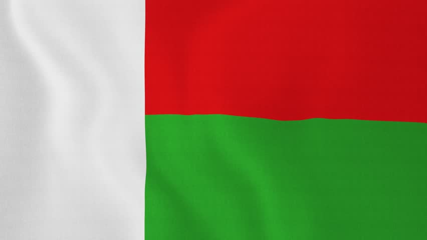 Flag Of Madagascar Rendered Using Official Design And Colors - Madagascar flag