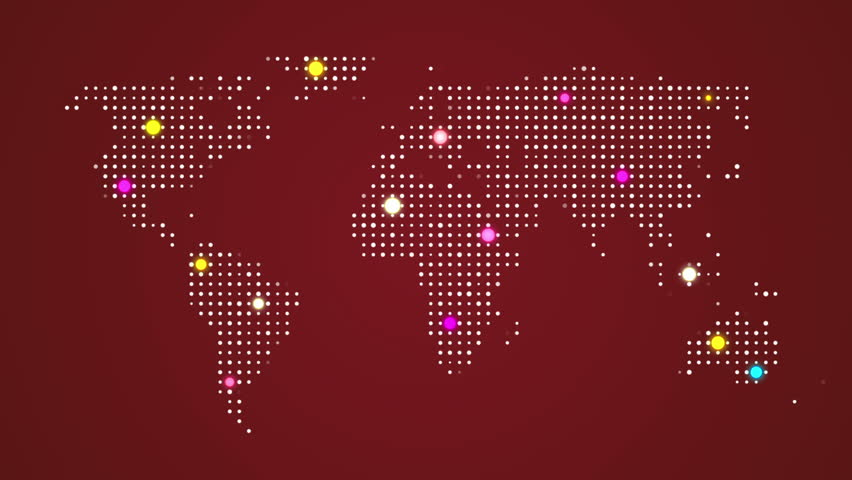 Abstract world map with route lines and colorful dots ideal for abstract world map with route lines and colorful dots ideal for technology broadcast background sciox Image collections
