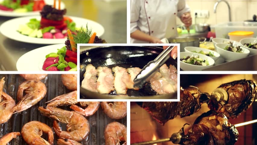 Dinner Party Video Part - 24: Food - HD Stock Video Clip