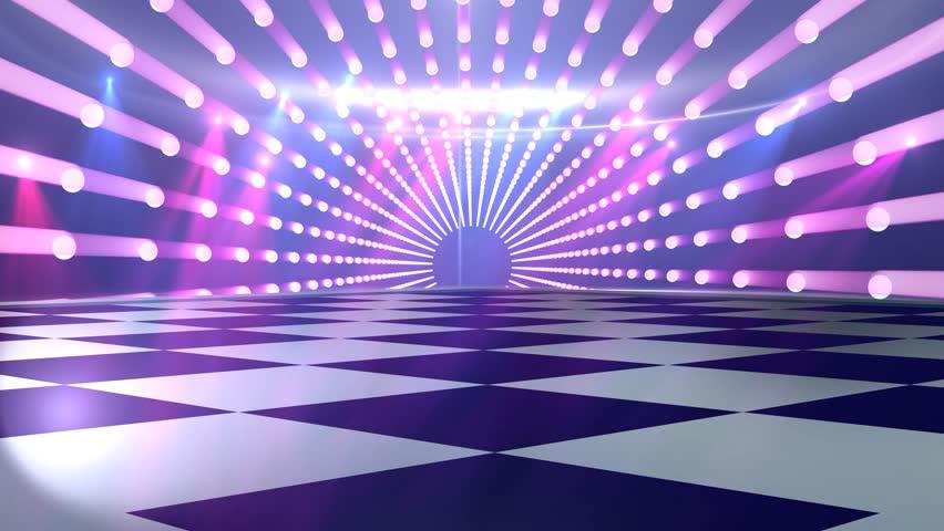 virtual studio disco dance floor stock footage video  100