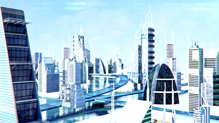 Futuristic Sci-fi City Street View, Stock Footage Video (100% Royalty-free)  9041887 | Shutterstock