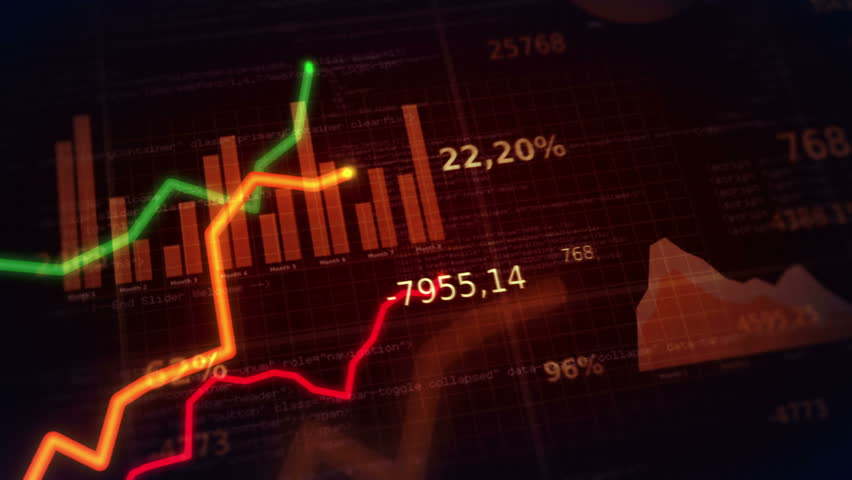 Financial figures and diagrams showing increasing profits and losses. 2 in 1. Red. EACH SHOT IS LOOPABLE. More financial videos in my portfolio. | Shutterstock HD Video #9073424