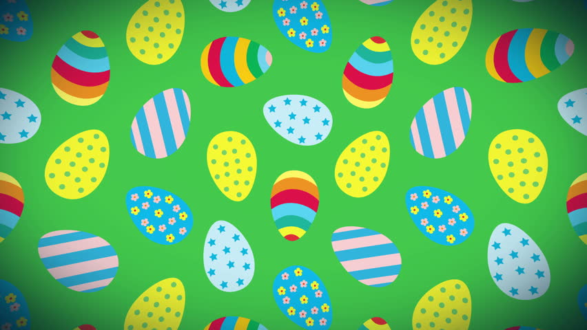 Easter Loop Animation Background With Stock Footage Video