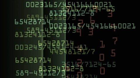 Stock exchange numbers data background,Computer program backdrop,big data tech technology coding programming,hacker encryption&decryption computing storage,high-tech mathematics scan search. 0577_4k