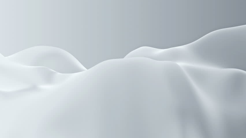 Abstract background waving with white silk to the wind. Clear backdrop of ripple white fabric. Beautiful abstraction of glowing cloth. | Shutterstock HD Video #9231977