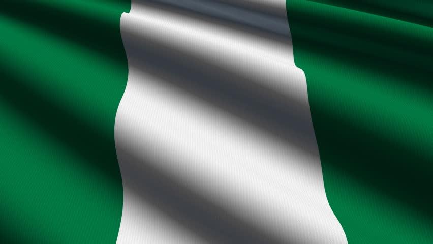 nigeria close up waving flag - hd loop stock footage video 927607