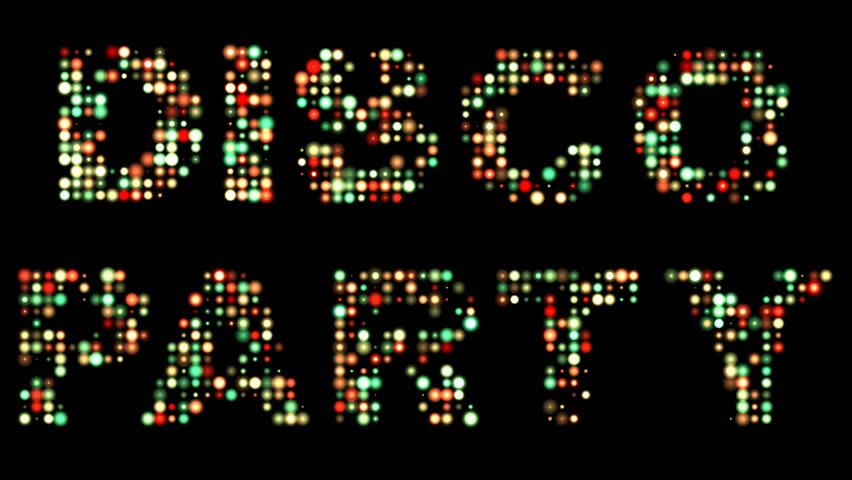 Disco party led sign
