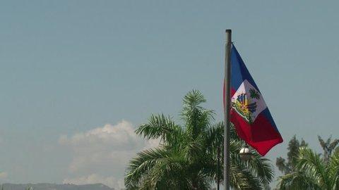 Haiti earthquake - Haiti flags