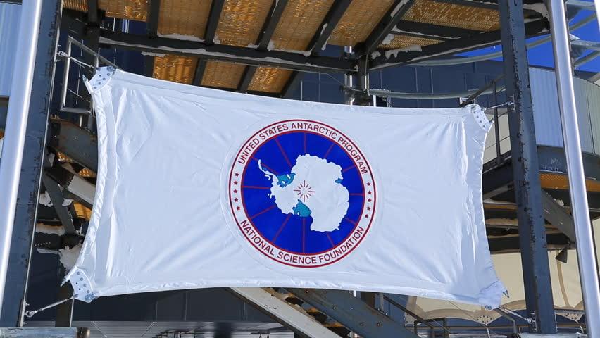 USA Antarctic Programme flag Amundsen-Scott South Pole Station