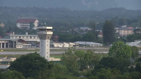 Aiport control tower of Kuching, Malaysia