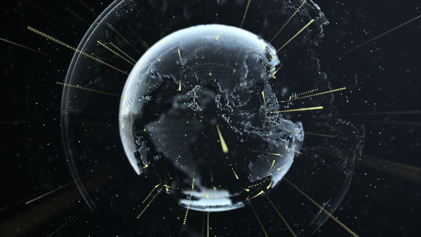 Digital Globe Of Earth With Stock Footage Video 100 Royalty Free
