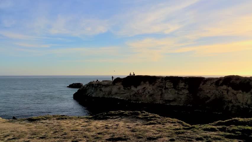 Santa Cruz, Steamer Lane West Side, California, USA. Steamer Lane is a famous surfing location in Santa Cruz, California. | Shutterstock HD Video #9415457