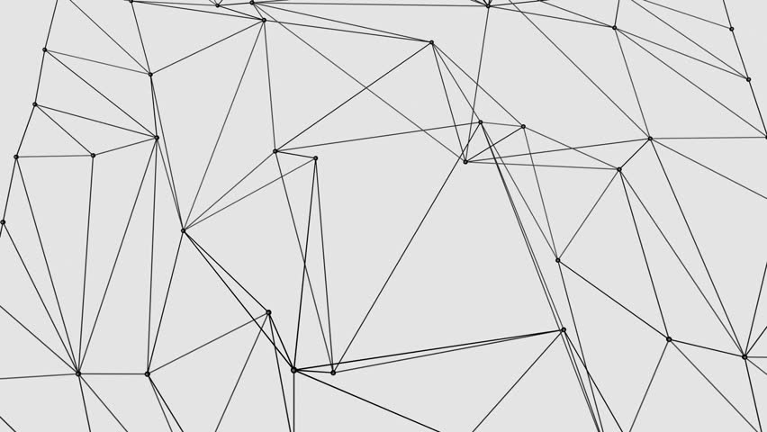 Abstract moving background black dots disconnecting with lines on energetic animation of 3d network looping on a solid background black and white look voltagebd Gallery