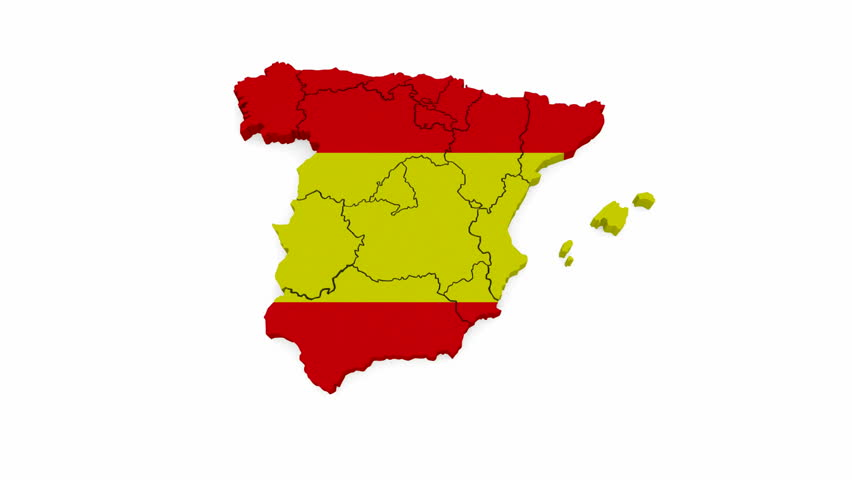 3d Map Of Spain.Three Dimensional Map Of Spain 3d Stock Footage Video 100 Royalty Free 9524087 Shutterstock