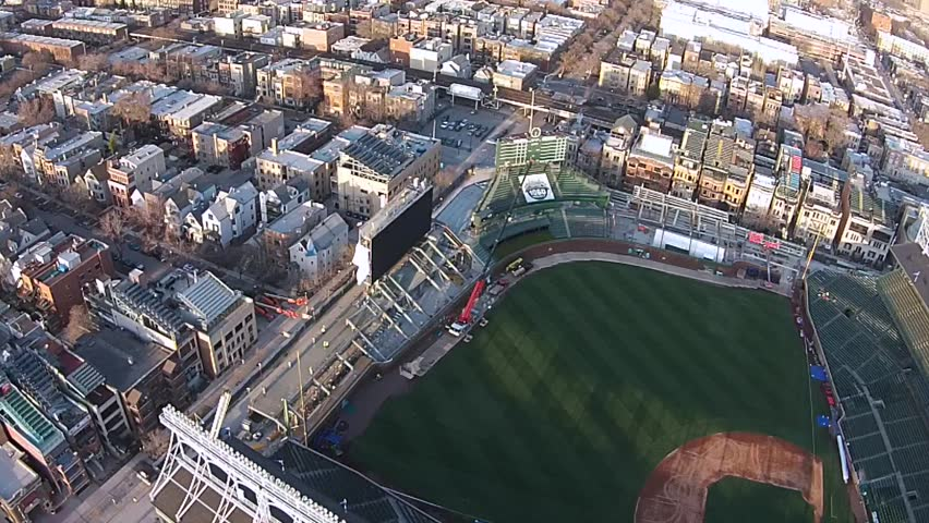 Chicago Wrigley Field Construction - Week Prior to Opening Day