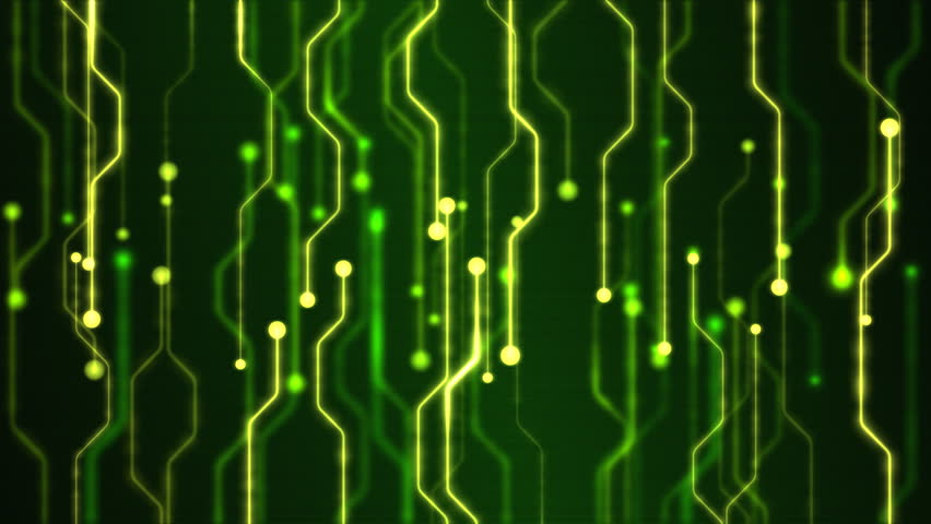 Abstract Technology Circuit Background Animation - Loop Green   Shutterstock HD Video #9597377