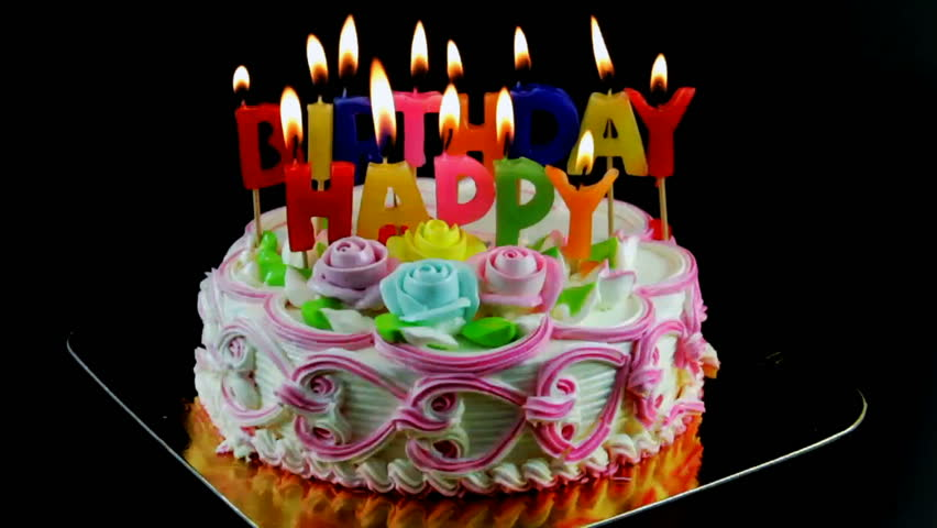 Incredible Birthday Cake Candles Video Clip Hd Footage Bigstock Personalised Birthday Cards Veneteletsinfo