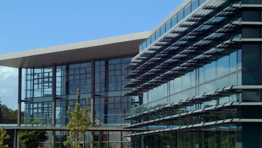 Establishing Shot Of A Modern Architecture Business Building