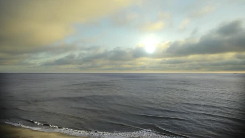 Time Lapse Virginia Beach Morning Ocean v.1 slow frame fill fly