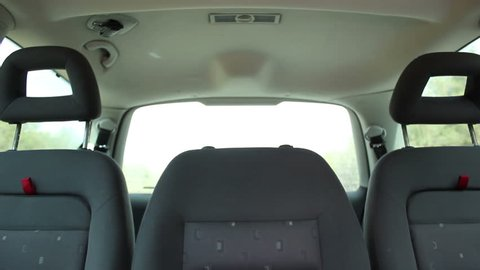 traveling by car back seats empty