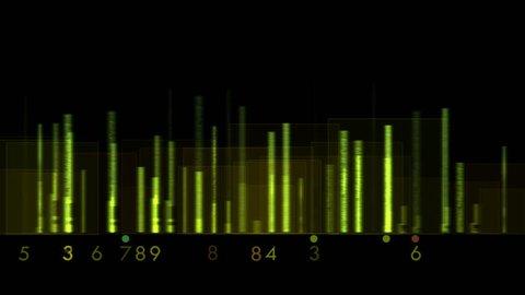 4k Audio equalizer,music rhythm Volume,speakers waves spectrum,heart-rate,vj background. 0685_4k